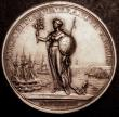 London Coins : A147 : Lot 1355 : Peace of Utrecht 1713 Eimer 460 35mm diameter in silver, Obverse draped bust left, ANNA . DG . MAG :...