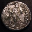 London Coins : A148 : Lot 1408 : Greek Ar Tetradrachm Ptolemy II 285-246BC Rev.eagle standing l. on thunderbolt GCV 7771 VF with some...