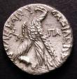 London Coins : A148 : Lot 1409 : Greek Ar Tetradrachm Ptolemy VIII, 145-146BC, Paphos, head of Ptolemy I r. rev. eagle date to l. &Pi...