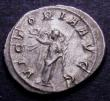 London Coins : A148 : Lot 1451 : Ar Denarius Balbinus, Rome 238, rev. Victory facing l. holding wreath and palm (RCV 8491) GVF toned,...
