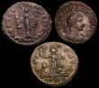London Coins : A148 : Lot 1464 : Bil.Antoniniani (3) Aurelian, Rome 274, rev. Sol between two captives (RCV 11571) VF: Severina, Sisc...