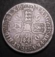 London Coins : A148 : Lot 1635 : Crown 1673 VICESIMO QVINTO ESC 47 VG