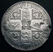 London Coins : A148 : Lot 1716 : Crown 1847 Gothic UNDECIMO ESC 288 About Fine, ex-brooch mount with some heavy surface marks, the ed...