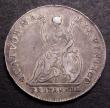 London Coins : A148 : Lot 1802 : Farthing 1676 Pattern in silver Long Hair Peck 492 Good Fine