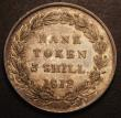 London Coins : A148 : Lot 2548 : Three Shillings Bank Token 1812 Head type ESC 416 UNC or near so, toned