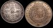 London Coins : A149 : Lot 2185 : Halfcrown 1816 ESC 613 EF attractively toned with some light hairlines on the obverse , Florin 1849 ...