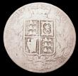 London Coins : A149 : Lot 2210 : Halfcrown 1861 Fair/Good, one of the 'missing' dates in the Young Head Halfcrown series, m...