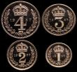 London Coins : A149 : Lot 2343 : Maundy Set 1957 ESC 2574 UNC to nFDC with full mint brilliance