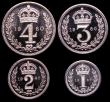 London Coins : A149 : Lot 2344 : Maundy Set 1960 ESC 2577 UNC to nFDC with practically full mint brilliance, the Fourpence with a con...