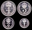 London Coins : A149 : Lot 2353 : Maundy Set 1969 ESC 2586 UNC to nFDC with full mint brilliance, the Twopence with some minor contact...