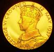 London Coins : A149 : Lot 881 : Coronation of George VI 1937 57mm diameter in gold Eimer 2046a by P.Metcalfe, The official Royal Min...