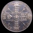London Coins : A150 : Lot 2039 : Double Florin 1889 Obverse 2 Reverse B, CGS Variety 03, a rare die pairing occurring briefly at the ...
