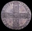 London Coins : A150 : Lot 2804 : Sixpence 1703 VIGO ESC 1582 NEF with grey tone and some haymarking