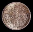 London Coins : A151 : Lot 1495 : Florin 1853 No stop after date, ESC 808, CGS type FL.V1.1853.02, Lustrous UNC and choice, slabbed an...