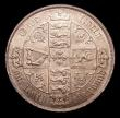 London Coins : A151 : Lot 1514 : Florin 1876 ESC 845, CGS type FL.V1.1876.01, Die Number 9, UNC and richly toned, slabbed and graded ...