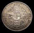 London Coins : A151 : Lot 1519 : Florin 1879 42 Arcs, No WW, ESC 850, CGS type FL.V1.1879.01 About VF and nicely toned, slabbed and g...