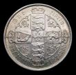 London Coins : A151 : Lot 1524 : Florin 1883 ESC 859, CGS type FL.V1.1883.01, EF, the obverse with some small spots, slabbed and grad...