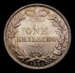 London Coins : A151 : Lot 1620 : Shilling 1885 ESC 1345, CGS type SH.V1.1885.01, UNC with an attractive golden tone, slabbed and grad...