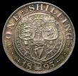 London Coins : A151 : Lot 1633 : Shilling 1895 Large Rose ESC 1364A, CGS type SH.V1.1895.03, UNC with an attractive golden tone, Choi...