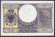 London Coins : A151 : Lot 179 : Albania 10 leke issued 1940 series N60 1460, Italian Occupation WW2, Pick11, tiny corner flick only,...