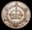 London Coins : A151 : Lot 2256 : Crown 1927 Proof ESC 367 UNC and lustrous the obverse with some spots on the back of the King's...