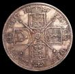 London Coins : A151 : Lot 2296 : Double Florin 1887 Roman 1 Proof New ESC 2696, Old ESC 394A Toned UNC with some contact marks and li...