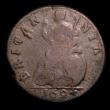 London Coins : A151 : Lot 2317 : Farthing 1694 GVLIELMS error, with unbarred A's in BRITANNIA, and with a single exergue line, P...