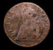 London Coins : A151 : Lot 2326 : Farthing 1699 Date in Legend GVLIELMV . Error, unlisted by Peck, VG with some spots, comes with old ...