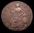 London Coins : A151 : Lot 2708 : Halfpenny 1694 as Peck 602 the 4 of the date overstruck, the underlying figure unclear, NVF/VF the o...