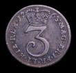London Coins : A151 : Lot 2750 : Maundy Threepence thought to be 1765 as ESC 2035 the 5 blundered with the top horizontal line incomp...