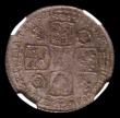 London Coins : A151 : Lot 2873 : Shilling 1737 Roses and Plumes ESC 1200 NGC MS62 comes with collectors ticket