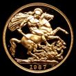 London Coins : A151 : Lot 3192 : Two Pounds 1987 Gold Proof S.4261 nFDC retaining almost full mint brilliance
