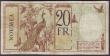 London Coins : A151 : Lot 427 : New Hebrides 20 francs issued 1941, Provisional overprint (on New Caledonia Pick37), series A.49 930...