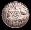 London Coins : A151 : Lot 893 : Australia Florin 1917M KM#27 EF/GEF with some edge nicks