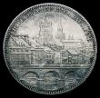 London Coins : A152 : Lot 1333 : Switzerland Shooting Thaler 5 Francs 1876 Lausanne X#S13 EF picturesque city scene reverse