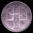 London Coins : A152 : Lot 2564 : Crown 1847 Gothic UNDECIMO edge ESC 288 GEF with much eye appeal and with a pleasing grey tone, only...