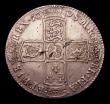 London Coins : A152 : Lot 2851 : Halfcrown 1698 DECIMO ESC 554 GVF with some heavier flecks of haymarking