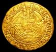London Coins : A153 : Lot 1881 : Angel Henry VIII First Coinage S.2265 mintmark Portcullis VF