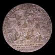 London Coins : A153 : Lot 2061 : Expedition to Vigo Bay 1702 25mm diameter in base silver by Lauffer, Obverse Bust left draped, Rever...