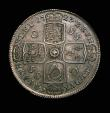 London Coins : A153 : Lot 2218 : Halfcrown 1723 SSC ESC 592 NEF with a small flaw on the edge by GEORGIVS