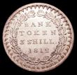 London Coins : A153 : Lot 2333 : Three Shilling Bank Token 1812 Bust type ESC 415 AU/UNC and lustrous, the obverse with some light co...