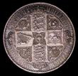 London Coins : A153 : Lot 2587 : Crown 1847 Gothic UNDECIMO ESC 288 NEF/EF toned, the obverse with contact marks and a light trace of...