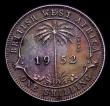 London Coins : A153 : Lot 911 : British West Africa Shilling 1952 Trial in chromed steel, FT327 TRIAL written vertically to the righ...