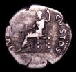 London Coins : A154 : Lot 1548 : Roman Denarius Nero (54-68AD) Reverse Salus seated left on ornamented throne, RIC 60, Near Fine with...
