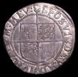 London Coins : A154 : Lot 1684 : Shilling Elizabeth I Seventh Issue S.2584 mintmark 1 Obverse Fine with grey tone, the reverse Near V...