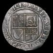 London Coins : A154 : Lot 1687 : Shilling James I First Coinage, Second bust, beard appears to merge with collar S.2646 mintmark Lis,...