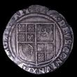 London Coins : A154 : Lot 1688 : Shilling James I Second Coinage Third Bust S.2654 mintmark Rose Near Fine/Fine with a couple of smal...