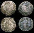London Coins : A154 : Lot 1712 : Sixpences Elizabeth I (3) 1570 Bust 4B mintmark Castle S.2562 Good Fine with a small shortage of fla...