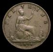 London Coins : A154 : Lot 1928 : Farthing 1874H G's over sideways G's Freeman 527 dies 4+C, VG Very Rare