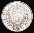 London Coins : A155 : Lot 1032 : Halfcrown 1894 ESC 728 Davies 665 dies 2B Lustrous UNC with prooflike fields and some hairlines, the...